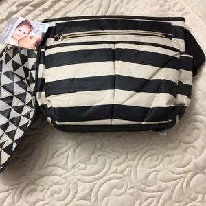 Other - NWT Black and cream stripe diaper bag